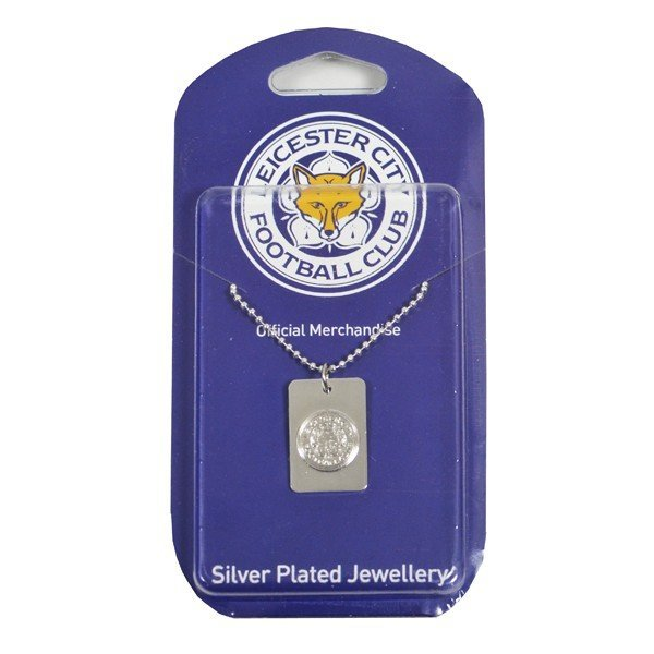 Leicester City Silver Plated Dog Tag and Chain