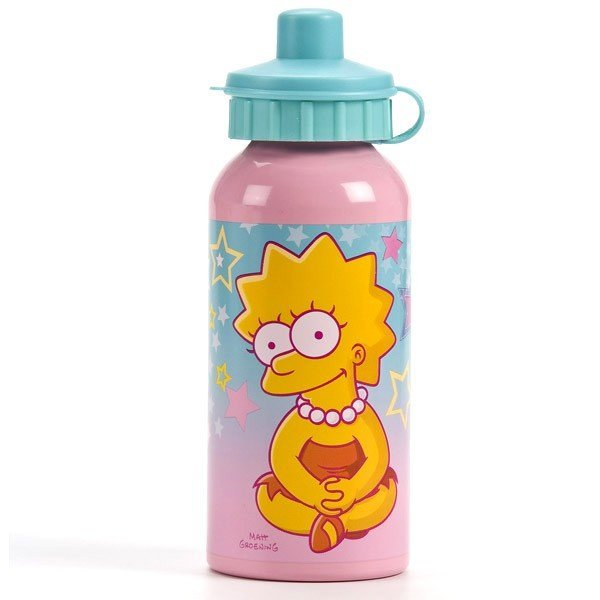 Lisa Simpson Aluminium Water Bottle