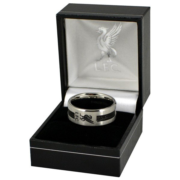 Liverpool Black Inlay Ring - Small