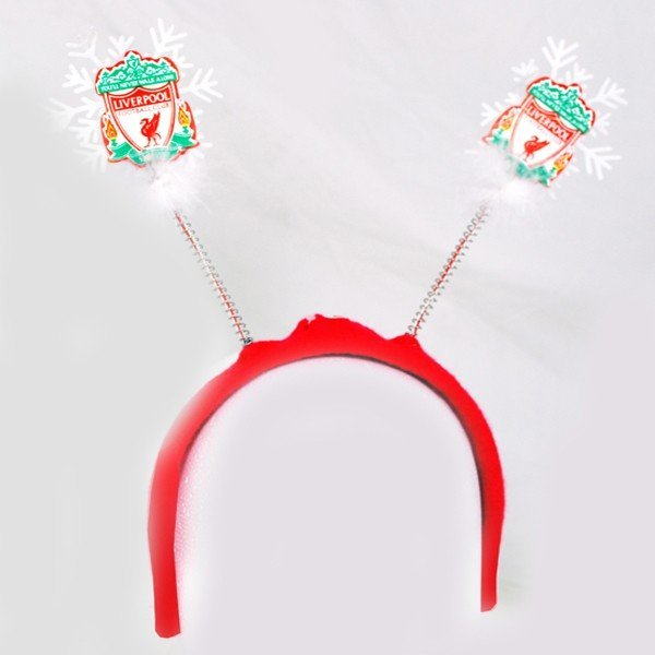 Liverpool Flashing Xmas Antlers Headband