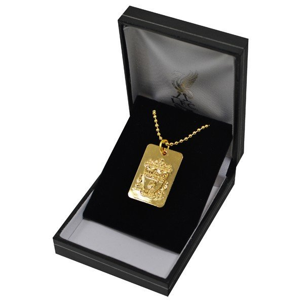 Liverpool Gold Plated Dog Tag and Chain