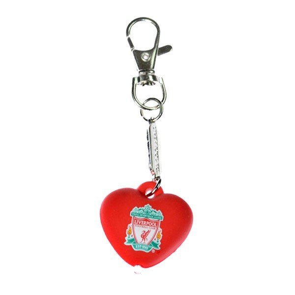 Liverpool Heart Light Up Bag Charm