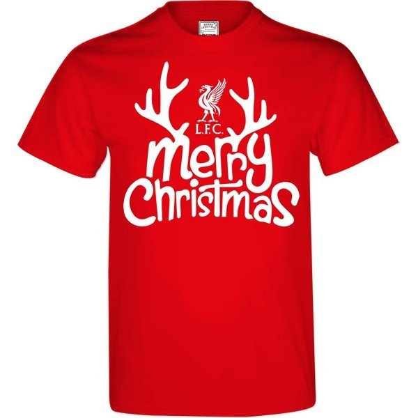 Liverpool Mens Merry Christmas T-Shirt - S