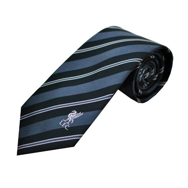 Liverpool Neck Tie White Black Stripe