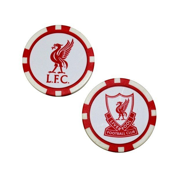Liverpool Poker Golf Ball Marker - 2PK