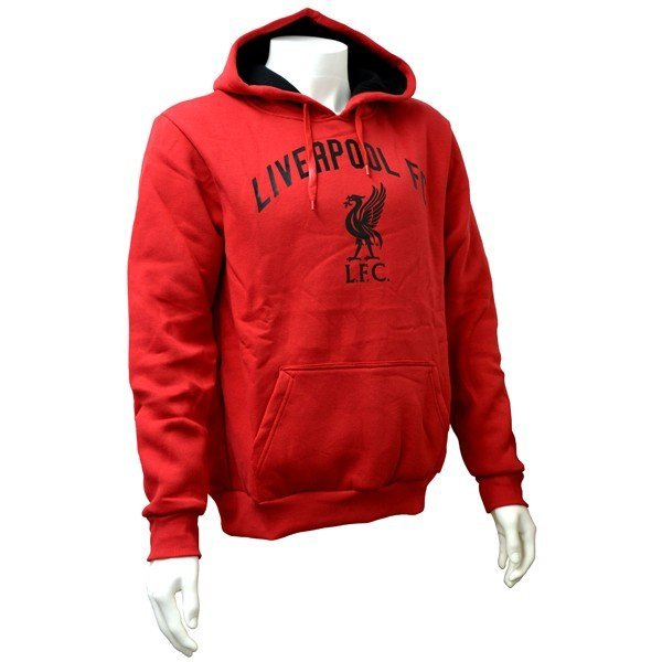Liverpool Red Crest Mens Hoody - L
