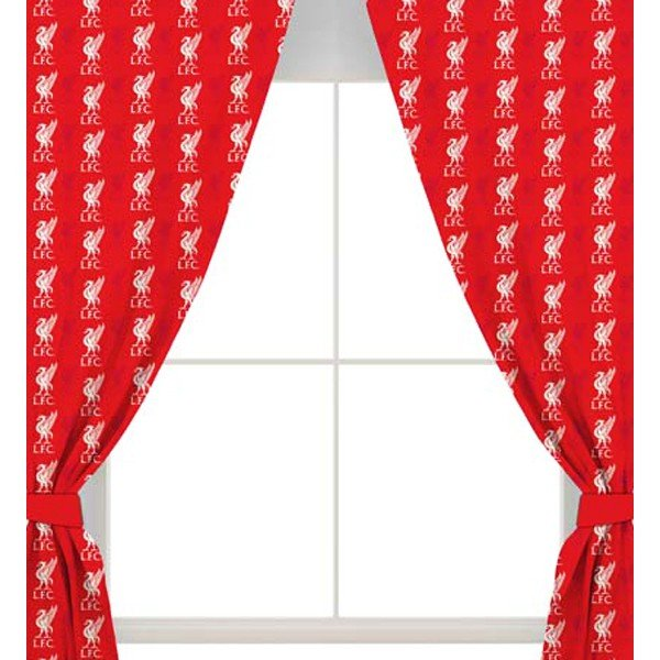 Liverpool Repeat Crest Curtains - 54 Inch