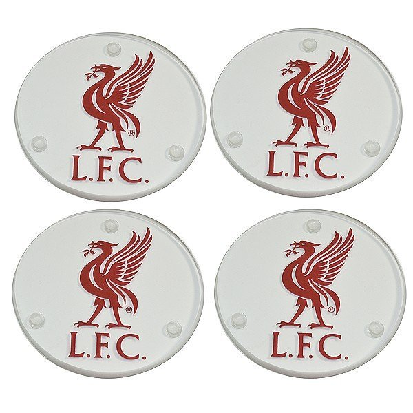 Liverpool Round Glass Coasters - 4PK