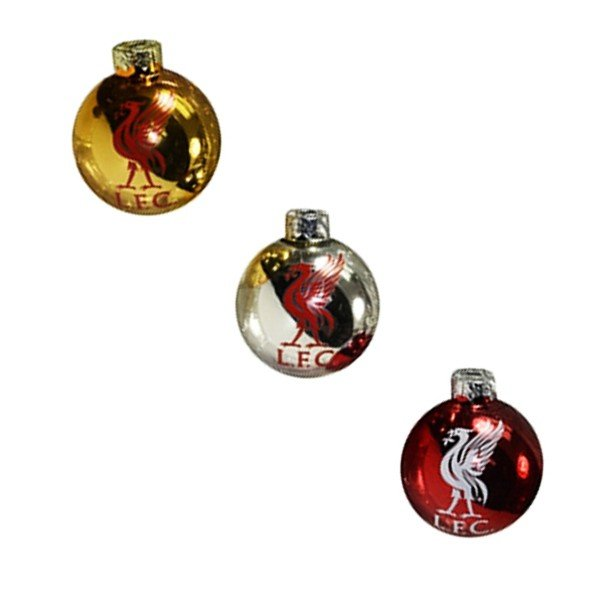 Liverpool Round Xmas Tree Baubles -3PK