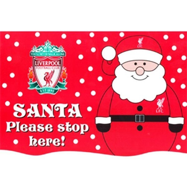 Liverpool Santa Window Sticker