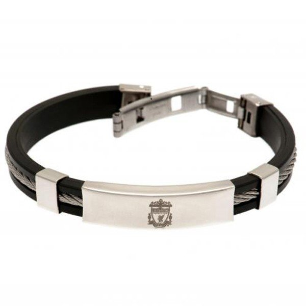 Liverpool Silver Inlay Silicone Bracelet