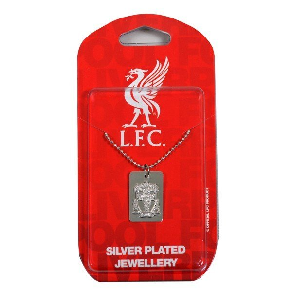 Liverpool Silver Plated Dog Tag and Chain