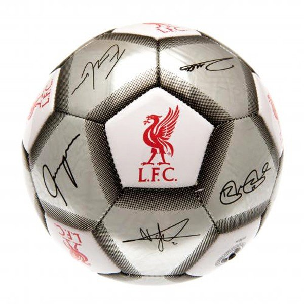 Liverpool Silver Signature Football - Size 5