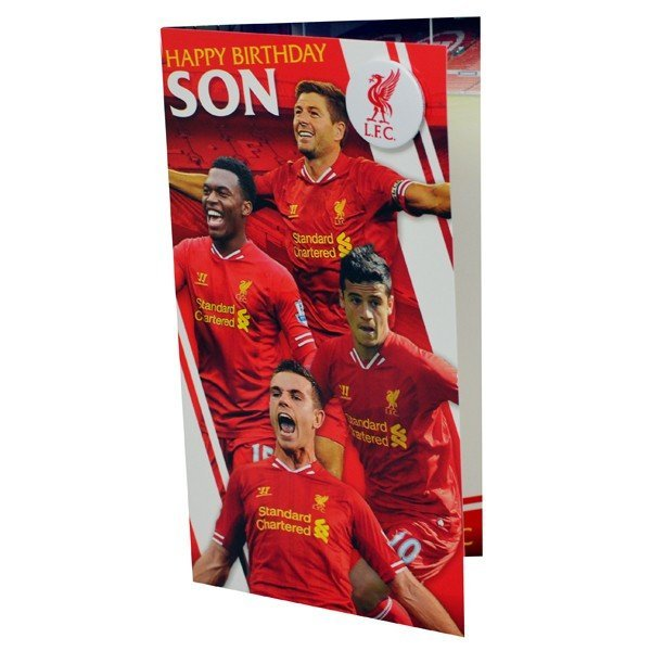 Liverpool Son Birthday Card - 6PK