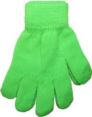 Hot Green Neon Bright Florescent Magic Gloves