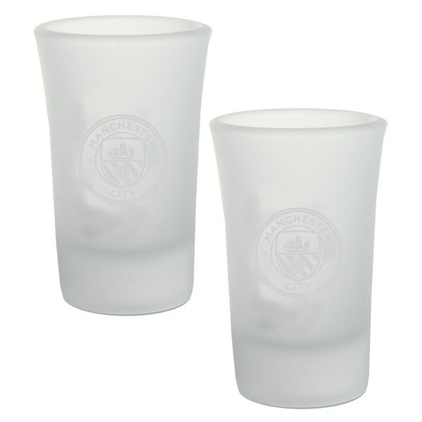 Manchester City 2Pk Frosted Shot Glass