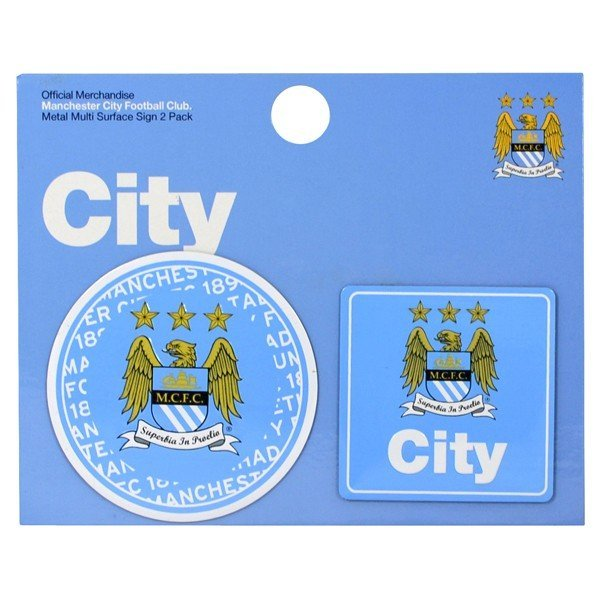 Manchester City 2PK Multi Surface Metal Sign