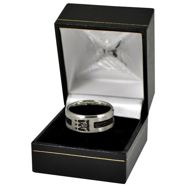 Manchester City Black Inlay Ring - Medium