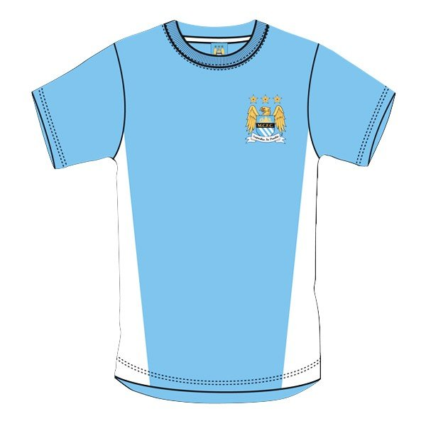 Manchester City Blue Crest Mens T-Shirt - S