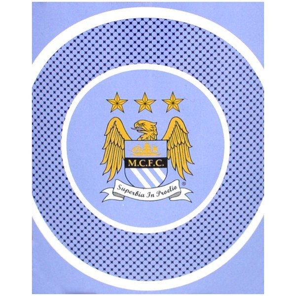 Manchester City Bullseye Fleece Blanket