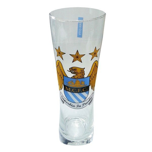 Manchester City Colour Crest Peroni Pint Glass