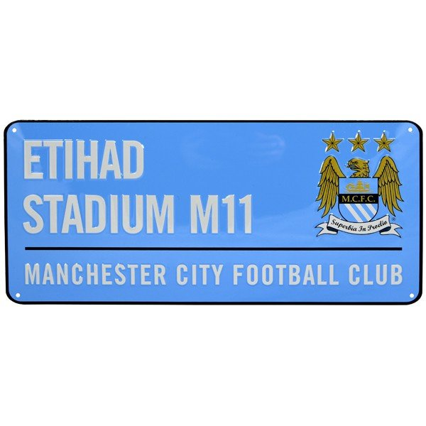 Manchester City Colour Street Sign
