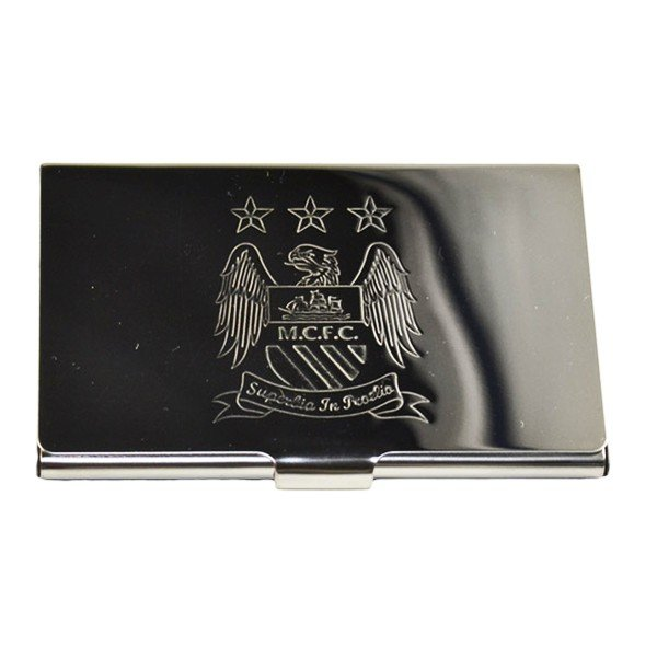 Manchester City Crest Embossed Business Card Holder