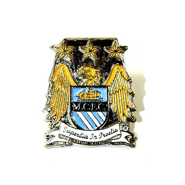 Manchester City Crest Pin Badge