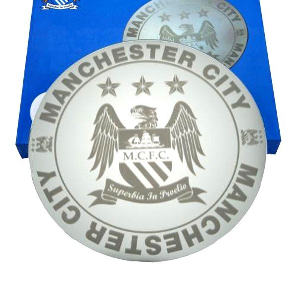 Manchester City Etched Mirror