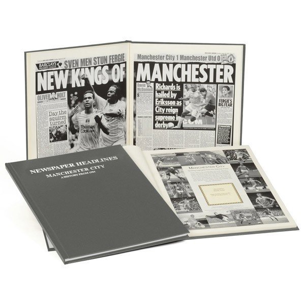 Manchester City Grey Cover Football Book
