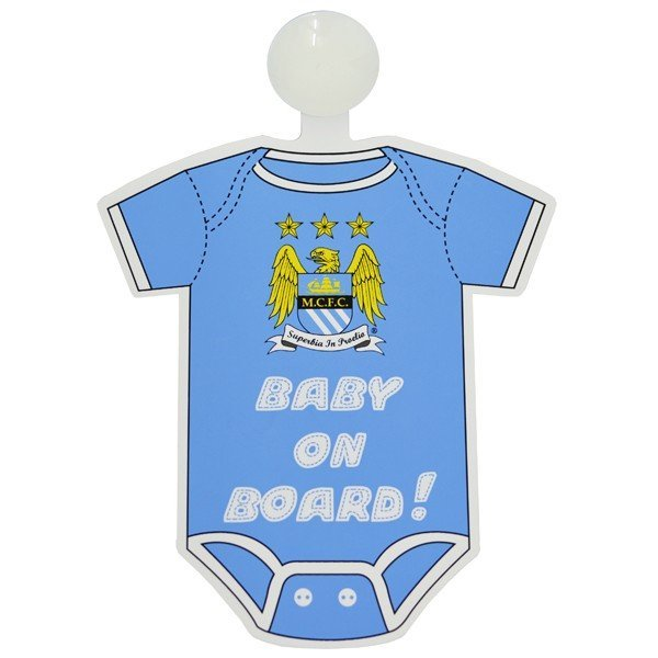 Manchester City Kit Baby On Board Sign