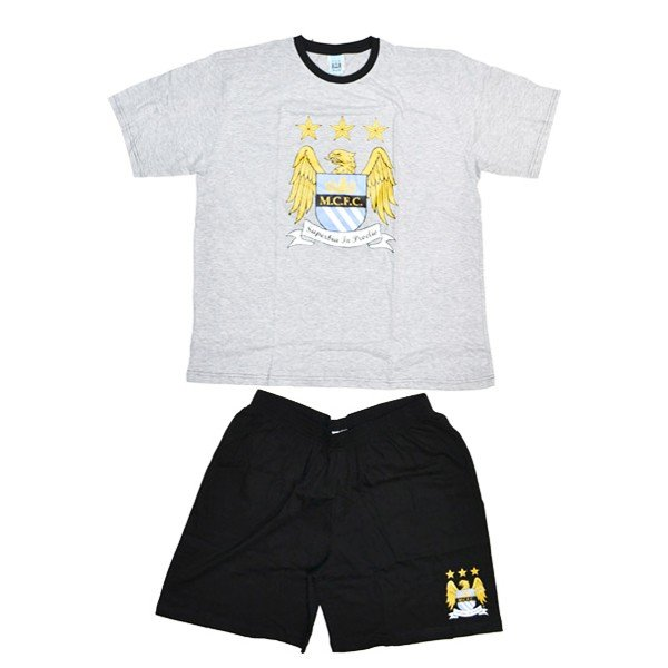 Manchester City Mens Grey Shorts Pyjama -M