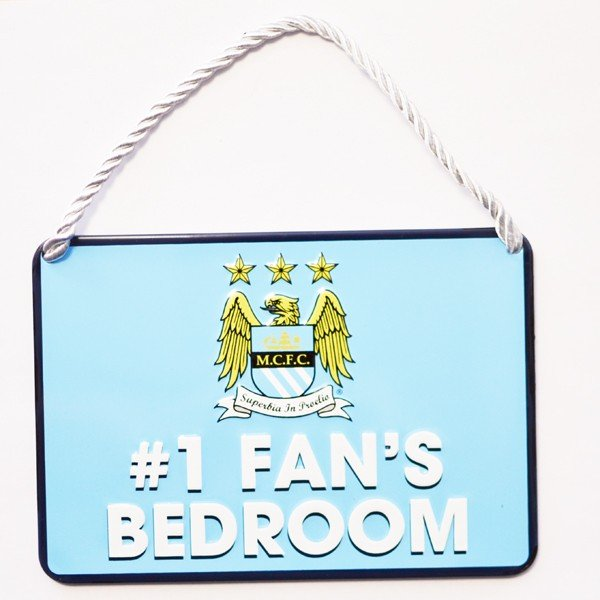 Manchester City No 1 Fan Bedroom Sign