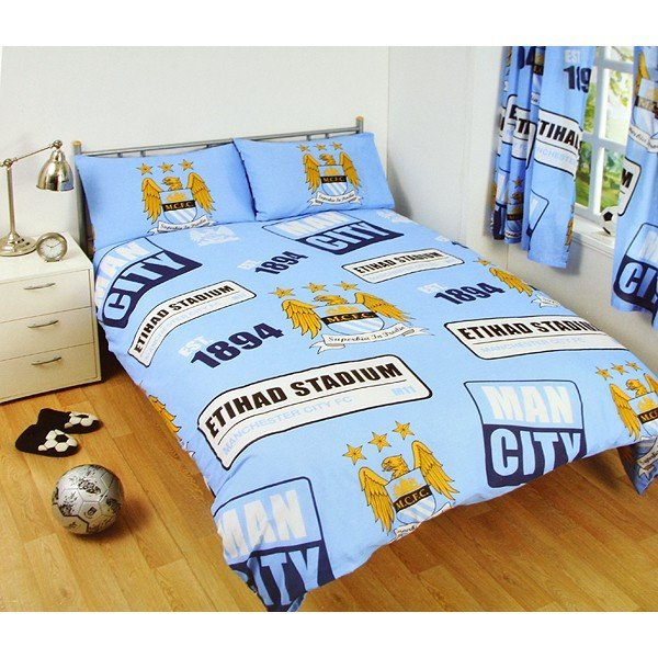 Manchester City Patch Double Duvet Set