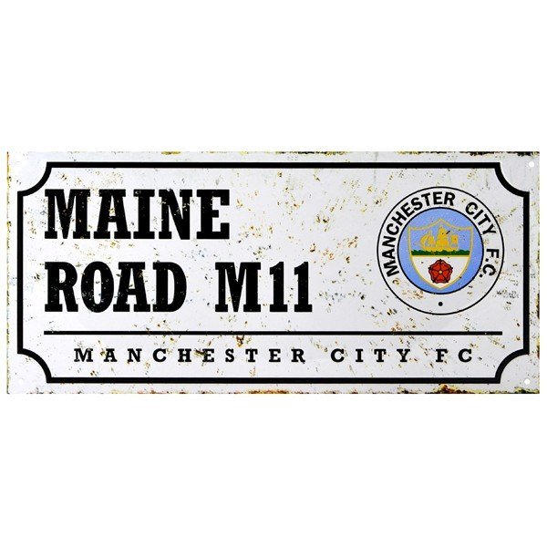 Manchester City Retro Street Sign
