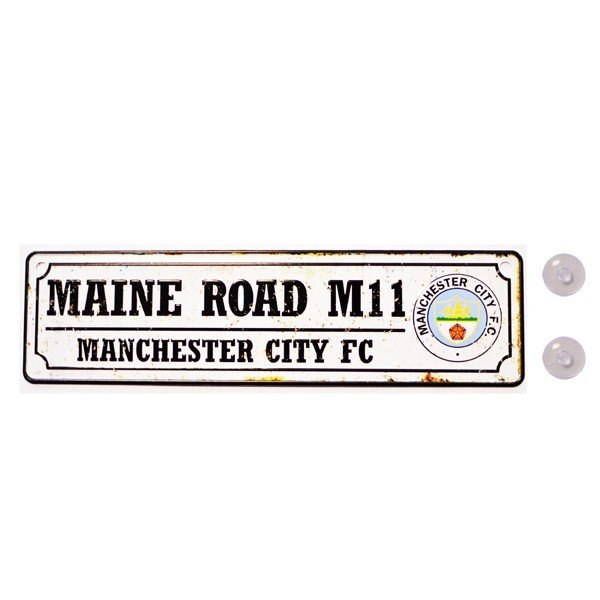 Manchester City Retro Window Hanging Sign