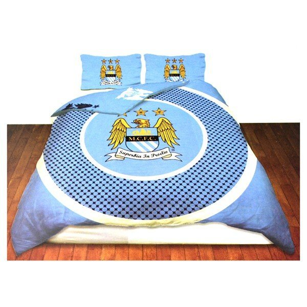 Manchester City Reversible Bullseye Double Duvet Set