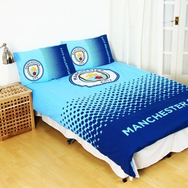 Manchester City Reversible Fade Double Duvet Set