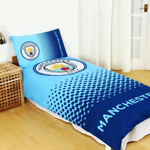 Manchester City Reversible Fade Single Duvet Set