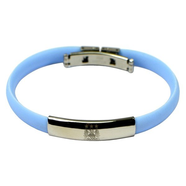 Manchester City Silicone Crest Bracelet