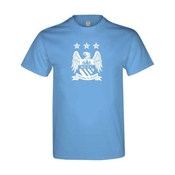 Manchester City Sky Mens T-Shirt - XL