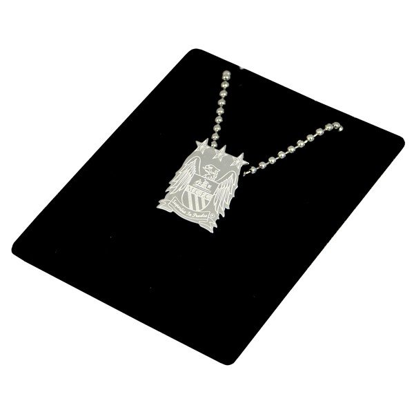 Manchester City Stainless Steel Crest Pendant/Chain