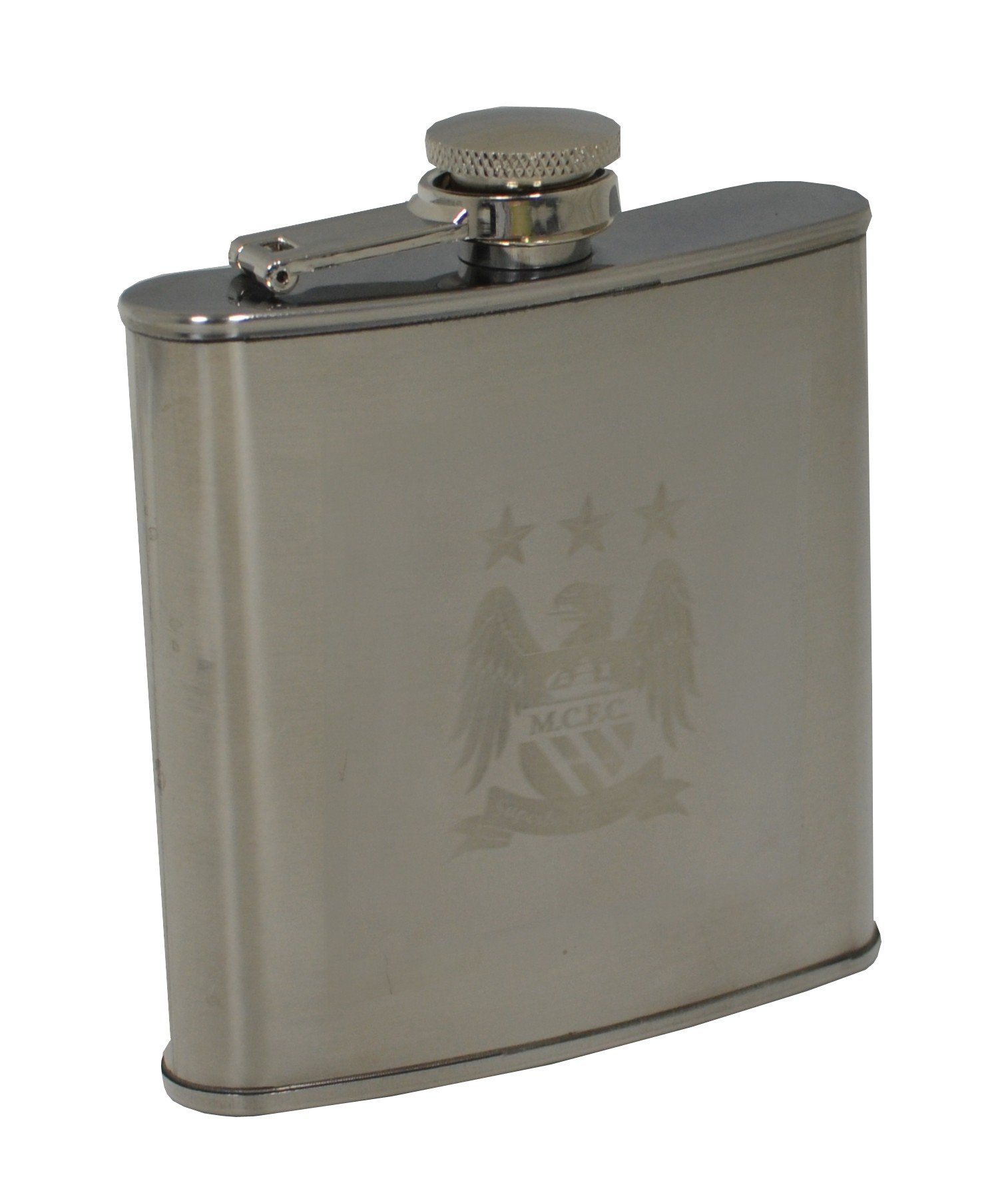 Manchester City Stainless Steel Hipflask