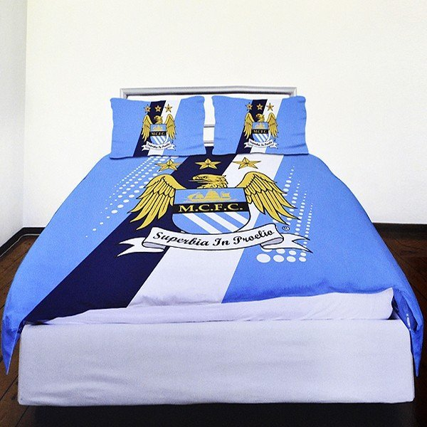 Manchester City Stripe Double Duvet Set
