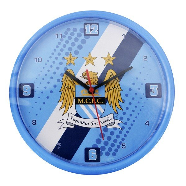 Manchester City Stripe Wall Clock