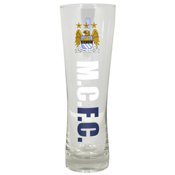 Manchester City Wordmark Crest Peroni Pint Glass
