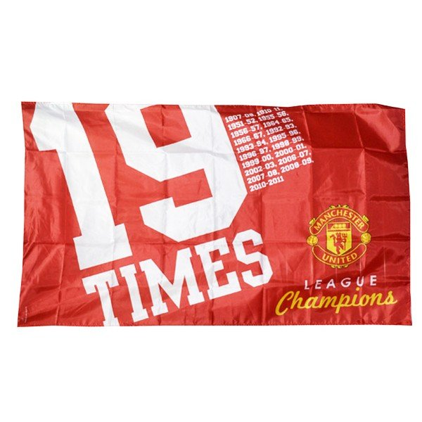Manchester United 19 Times Flag