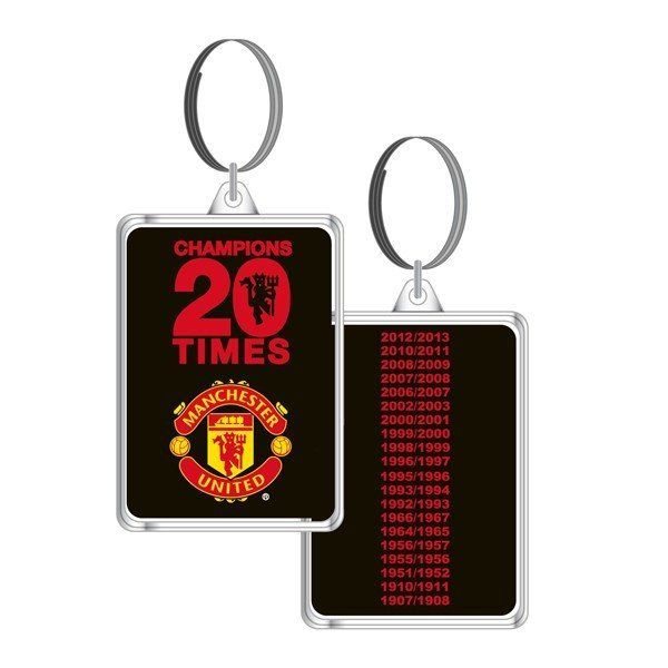 Manchester United 20 League Titles Keyring