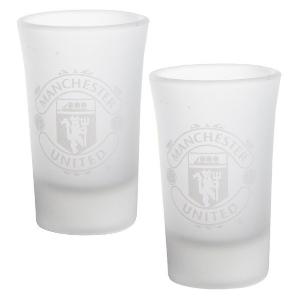 Manchester United 2Pk Frosted Shot Glass