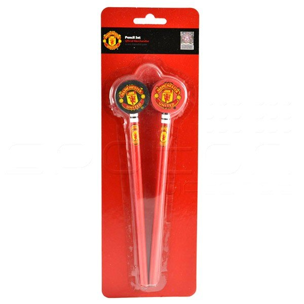 Manchester United 2PK Pencil & Topper Set